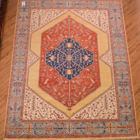Superb quality handknotted Bakshaish design Afghan Carpet made with natural dyes and hand-spun wool.