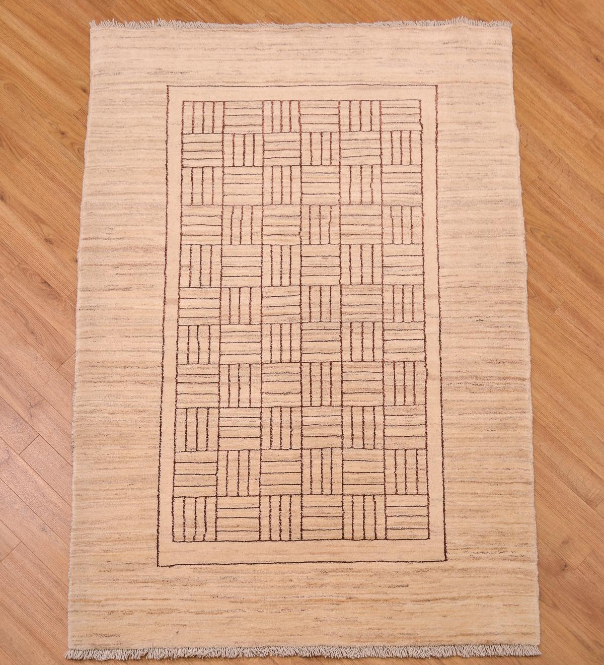 Shop Oriental Persian Gabbeh Shades Of Orange Hand Knotted: Gabbeh Modern Rug (wool&silk) 1.73x1.20m