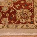 Clearance Indo-Persian Carpet of Sultanabad design with all over floral pattern on a beige background with rust main border.