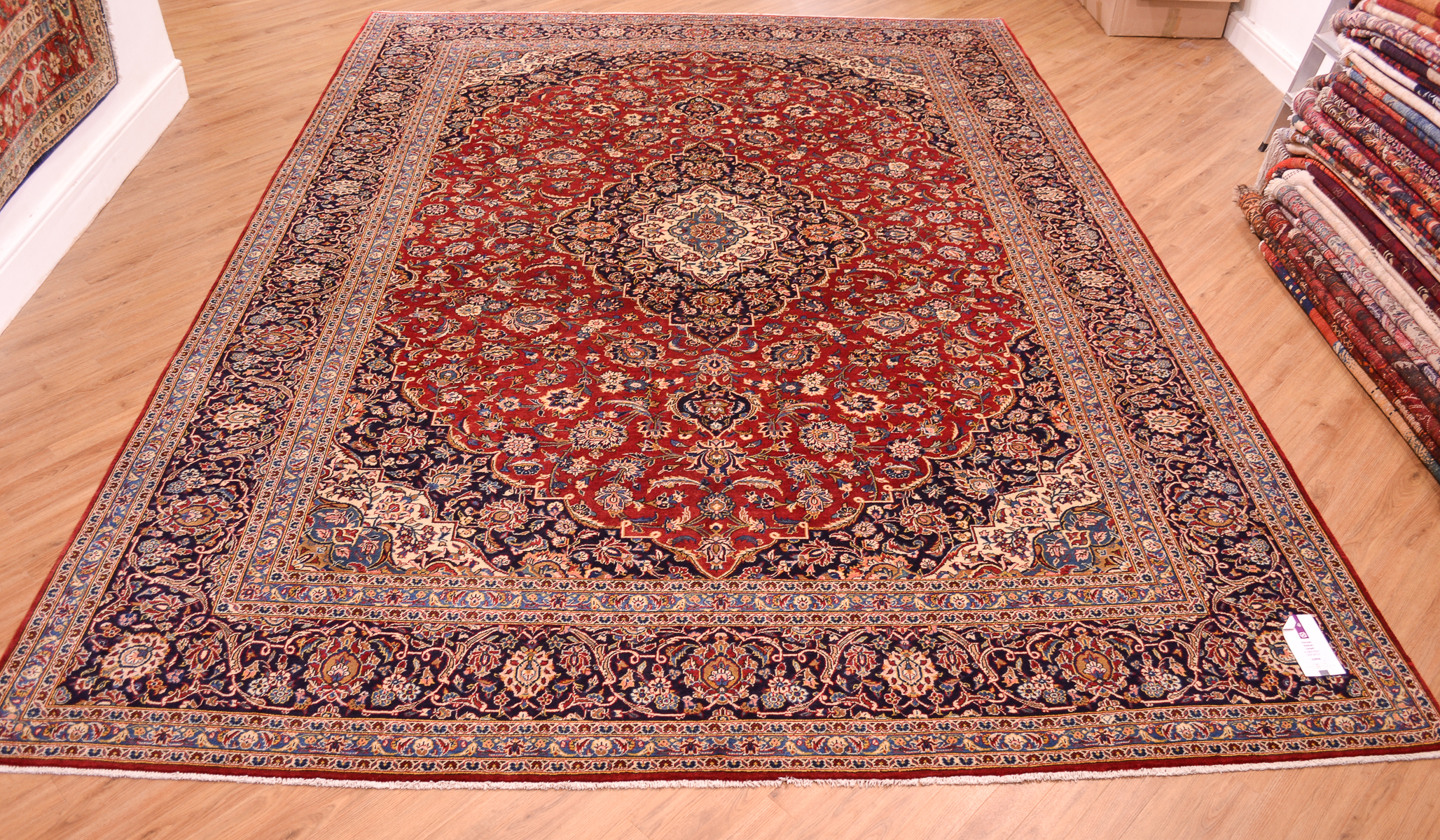 Persian Kashan Carpet 4 18x3 02m The Oriental Rug Merchant