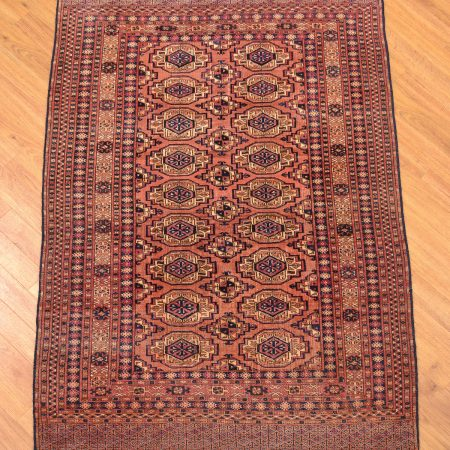 Antique, Late 19th Century, Saryk Turkoman Rug