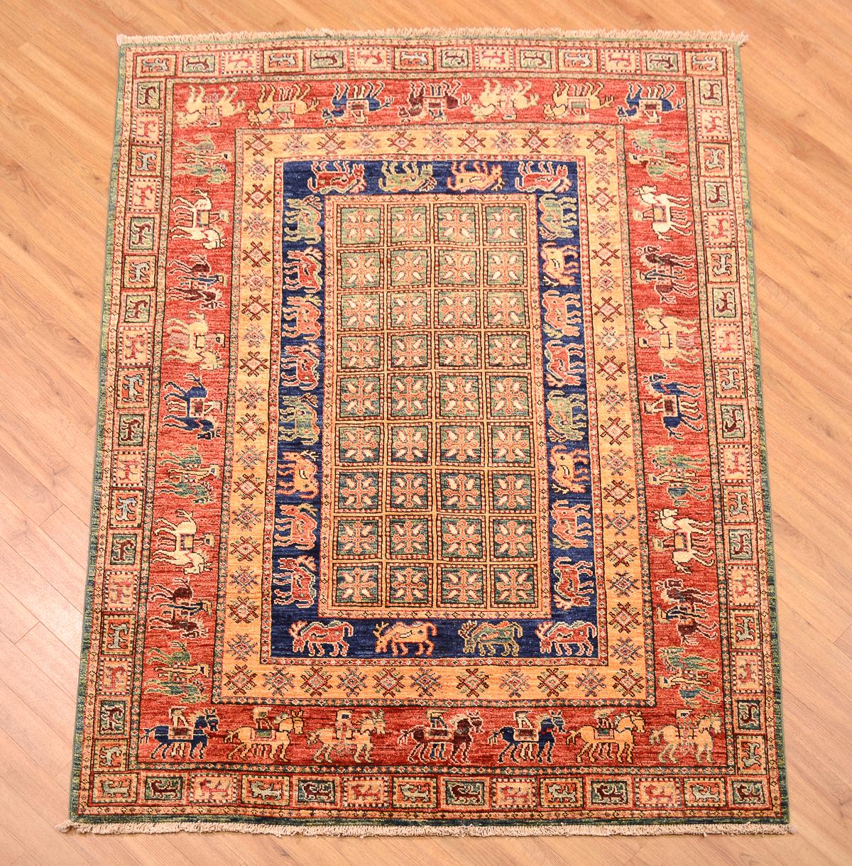 Afghan Pazyryk Rug 2 00x1 48m The Oriental Rug Merchant