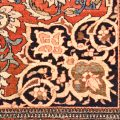 Outstanding fine antique Kashan Persian Rug handmade circa 1900 - it has an amazingly glossy wool pile and features a medallion design on a terracotta background.