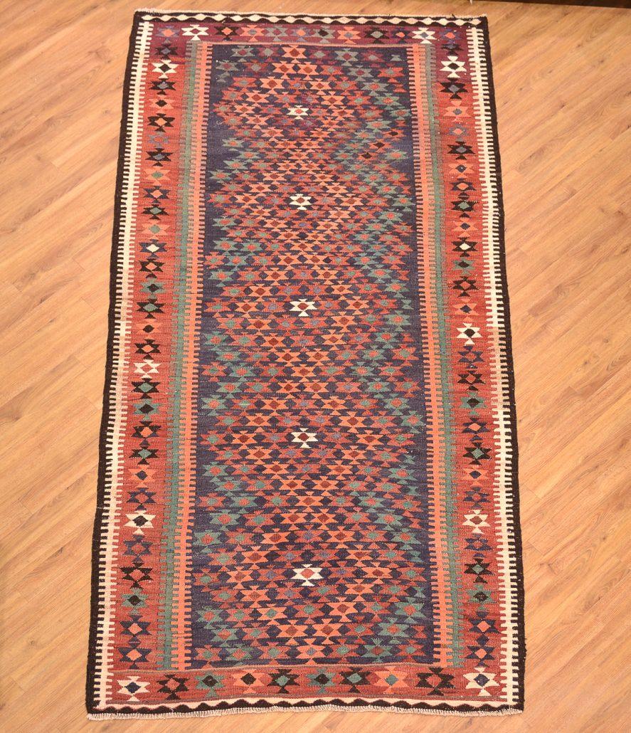 Old Kurdish Kilim Long Rug 2.80x1.35m