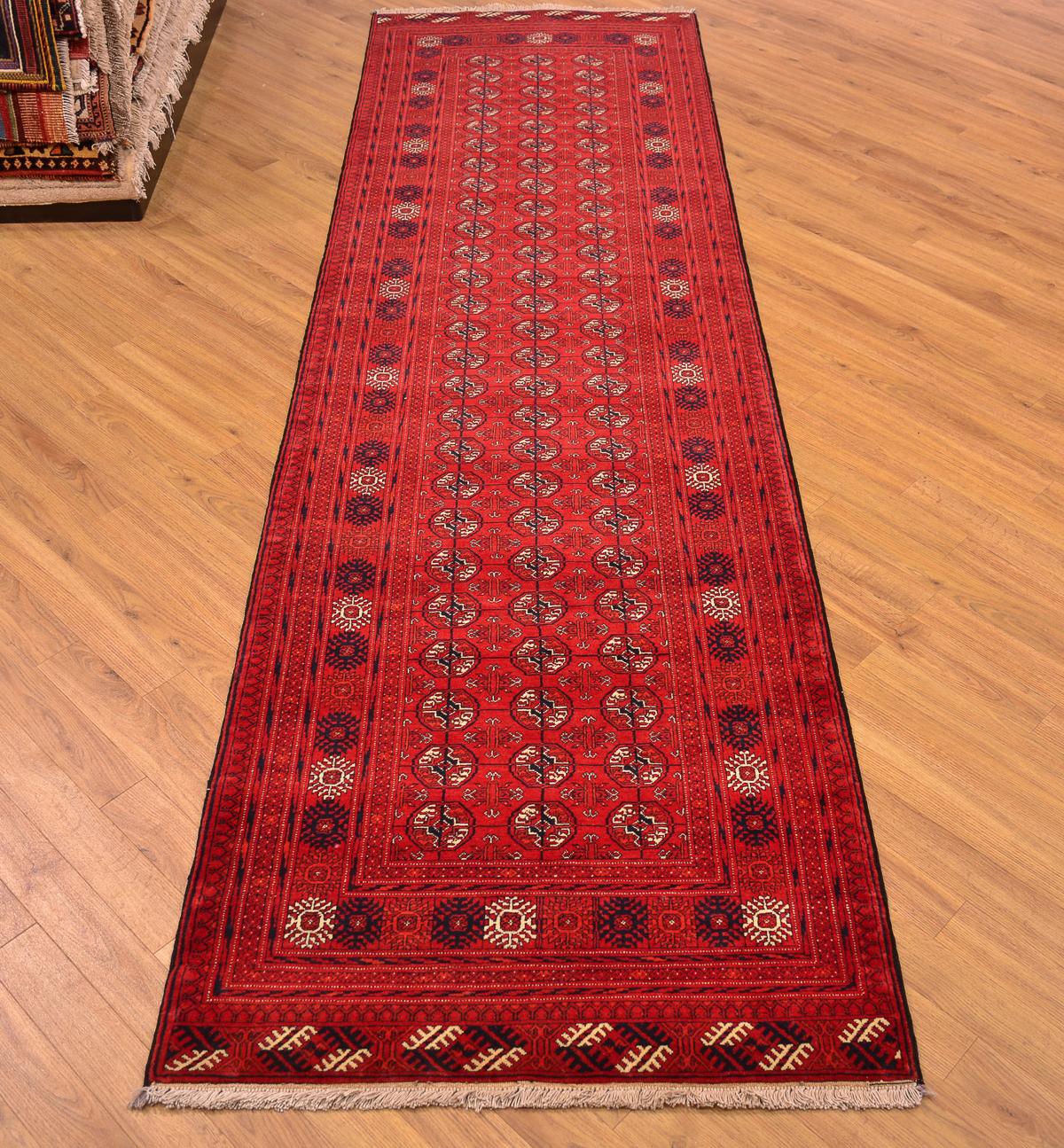 Fine Afghan Mauri Runner 3 06x0 87m The Oriental Rug
