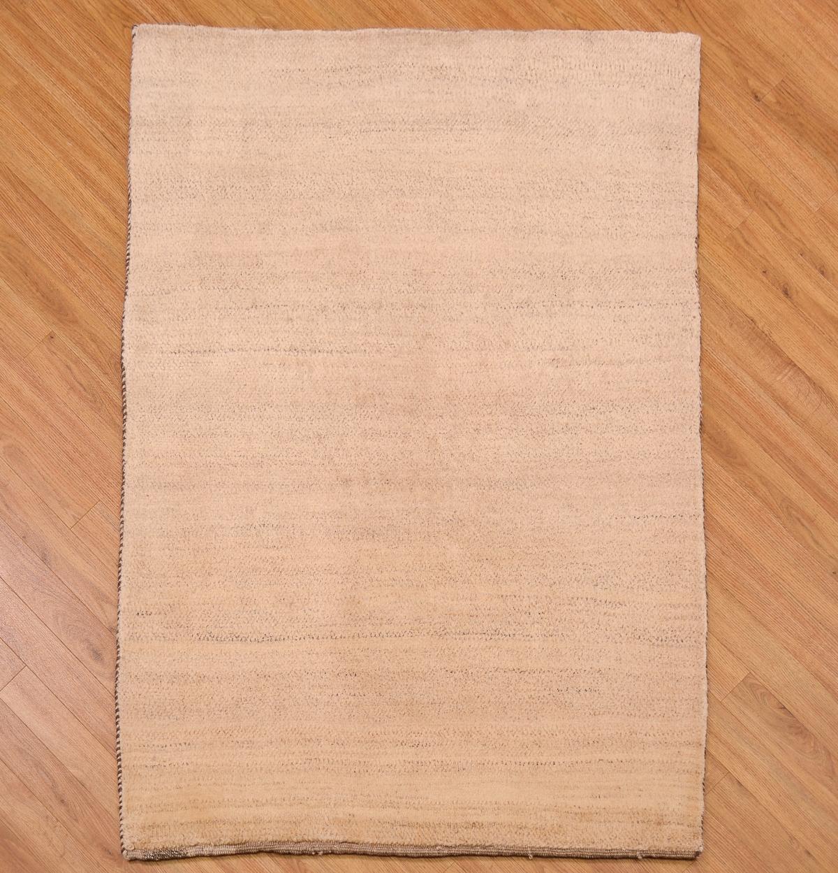 Natural Gabbeh Plain Rug 1 50x1 04m The Oriental Rug