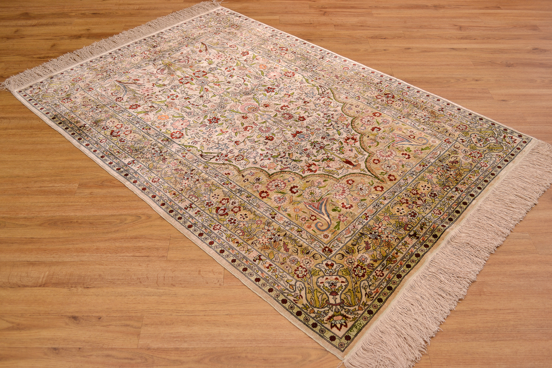 Fine Turkish Silk Hereke Rug 1 46x1 01m The Oriental Rug