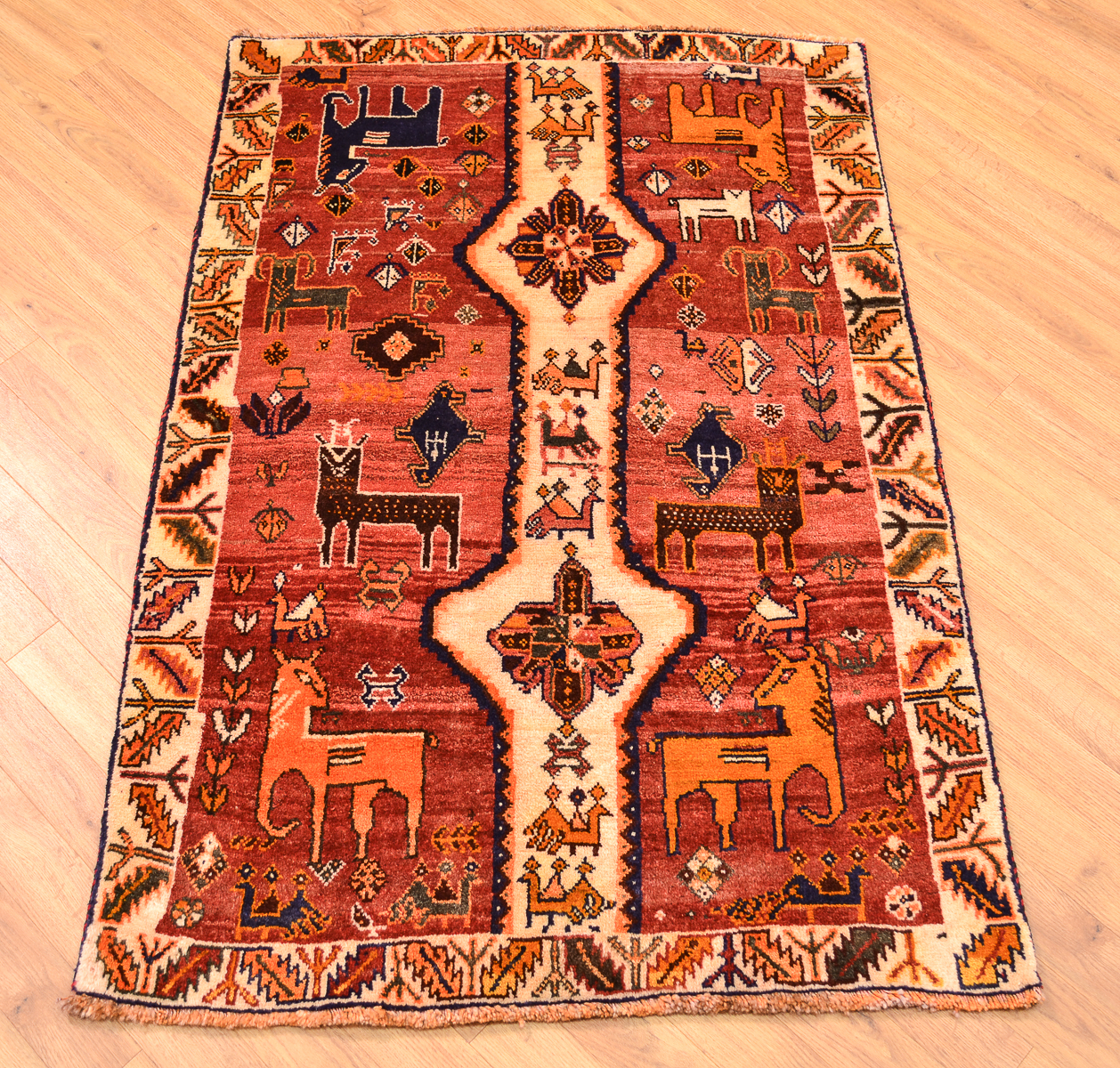 Qashqai Animal Rug 1 43x0 96m The Oriental Rug Merchant