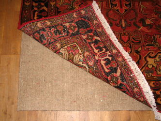 Top quality Anglo Rug Underlay / Felt & Rubber combination underlay made from recycled materials it features a wool felt top and rubber crumb base. Thick Oriental Rug Underlay to stop carpets slipping. AKA Persian Rug Underlay and Afghan Rug Underlay.