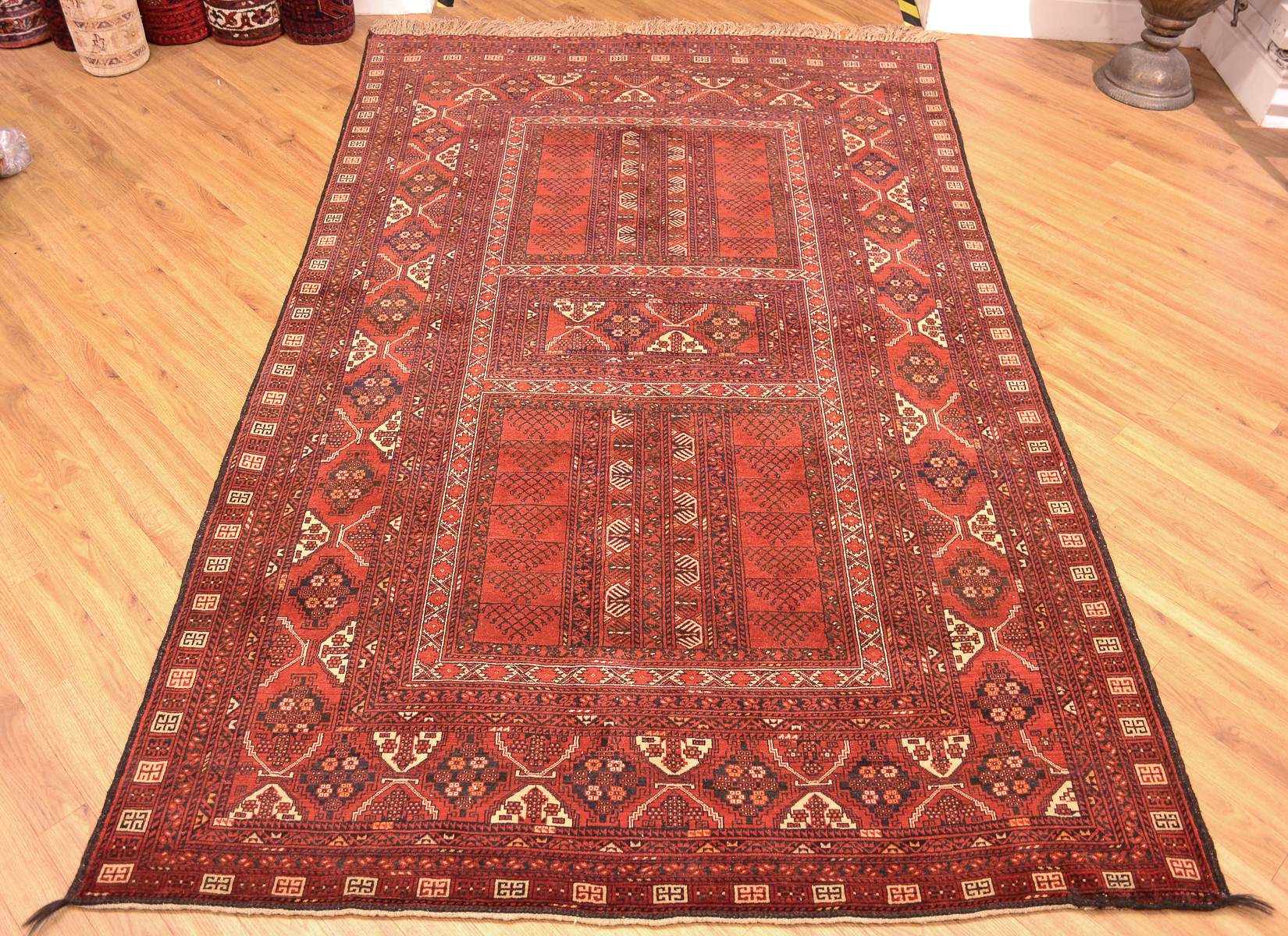 Fine Old Afghan Purdah Carpet 2 48x1 55m The Oriental
