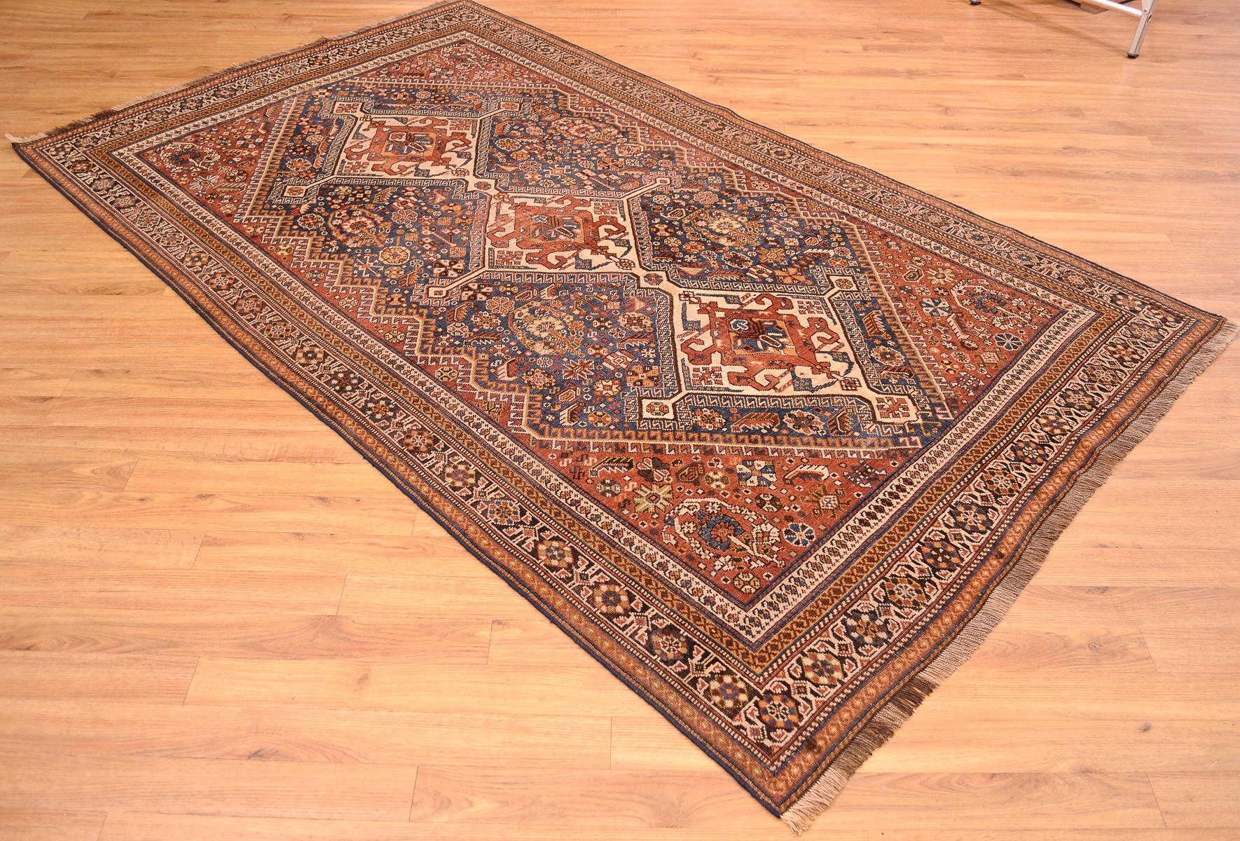 Antique Persian Qashqai Rug 2 32x1 41m The Oriental Rug