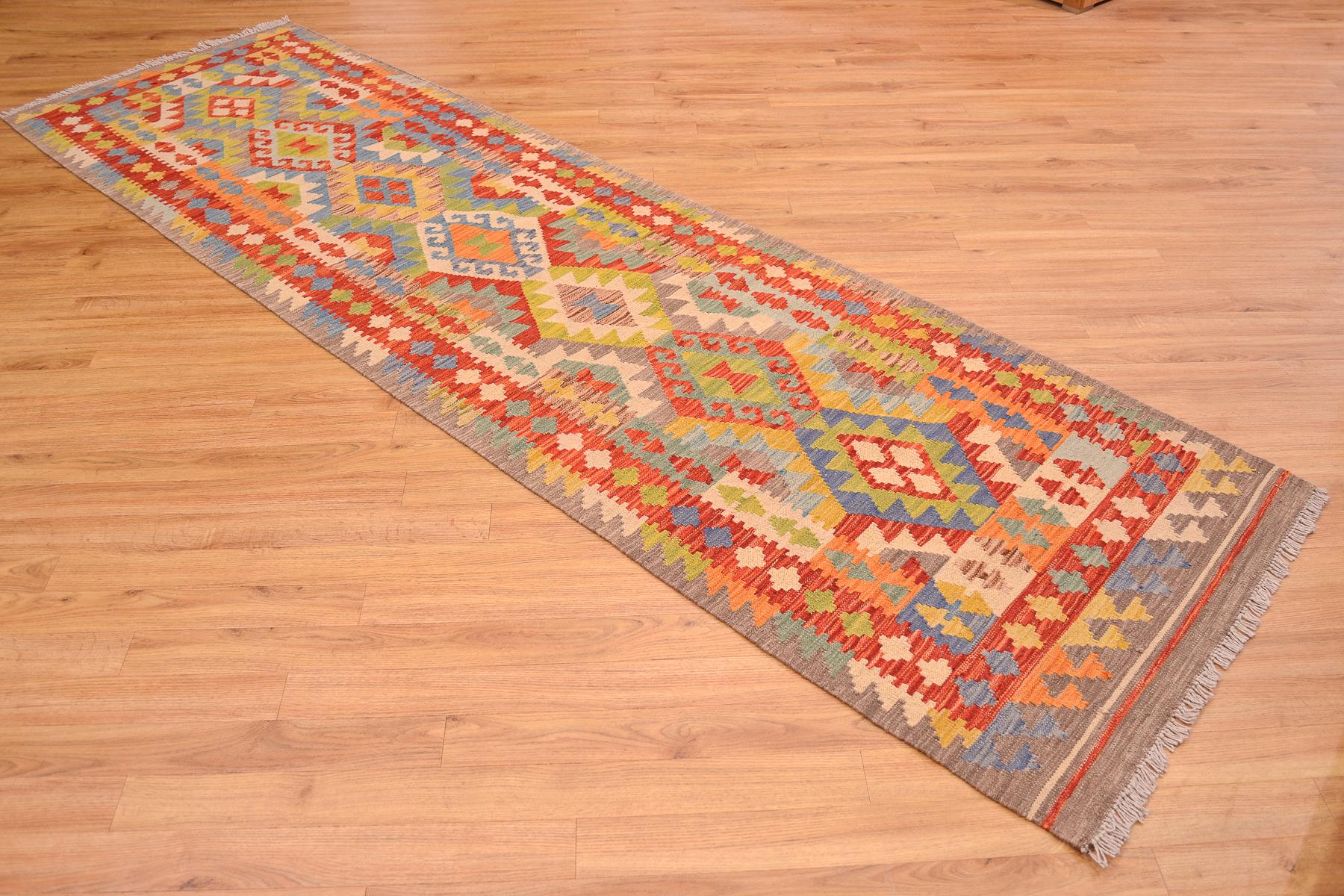 Afghan Veg Dye Kilim Runner 2 89x0 83m The Oriental Rug