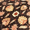 Styish black ground with beige and gold colours handmade, hand-knotted Afghan Ziegler Carpet.