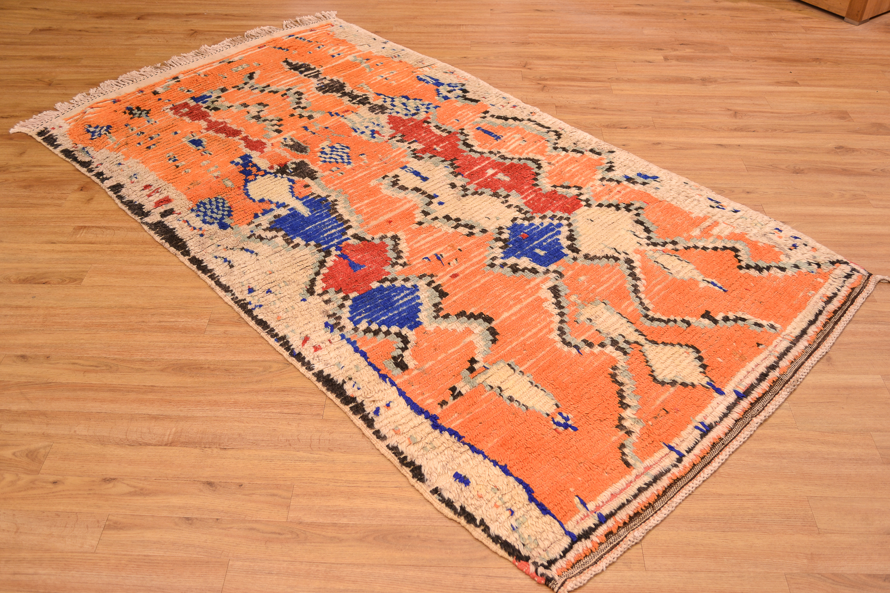 Funky Unique Vintage Azilal Rug 2 17x1 18m The Oriental