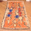Handmade Vintage Azilal Rug with quirky pattern.