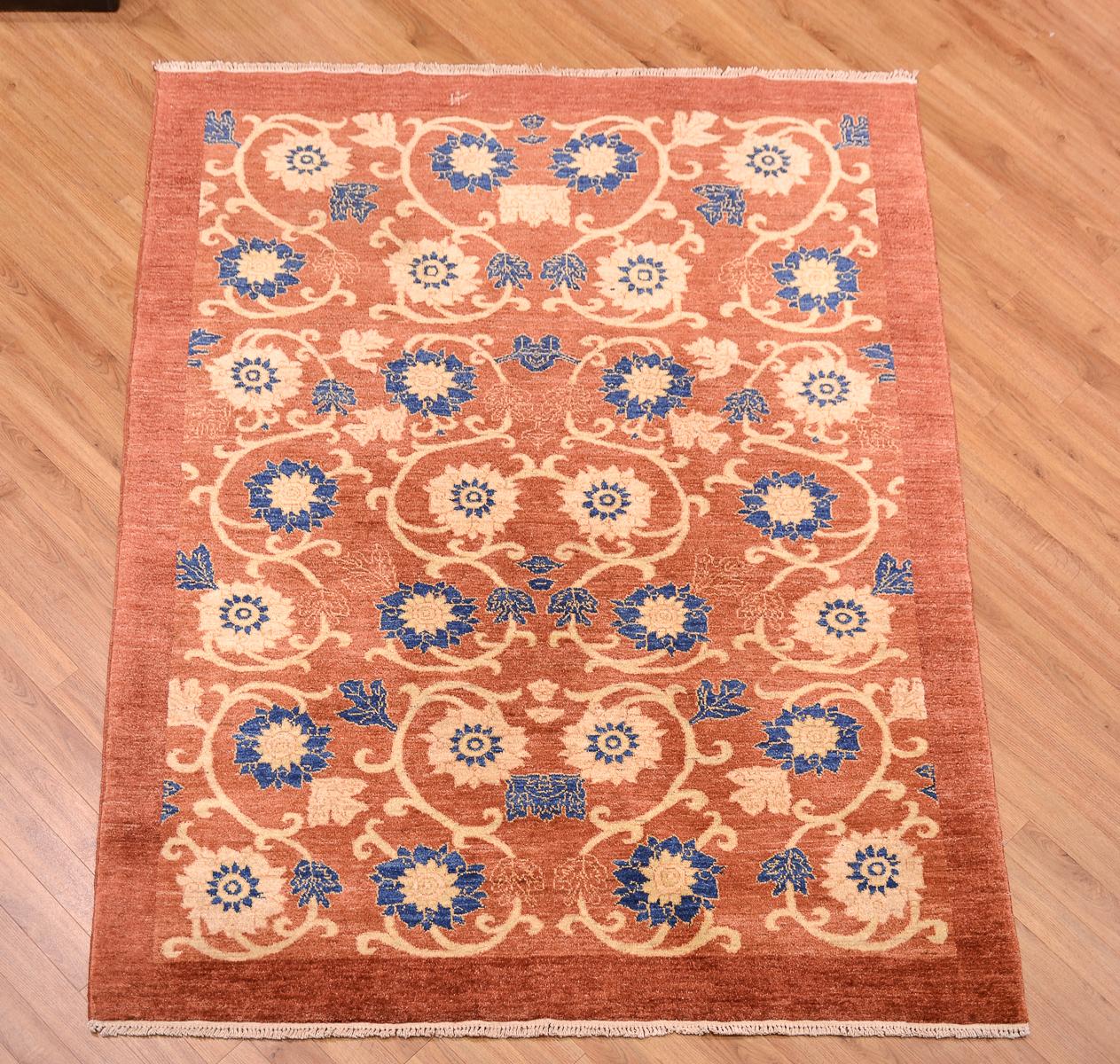 Modern Handmade Afghan Floral Gabbeh Rug The Oriental Rug