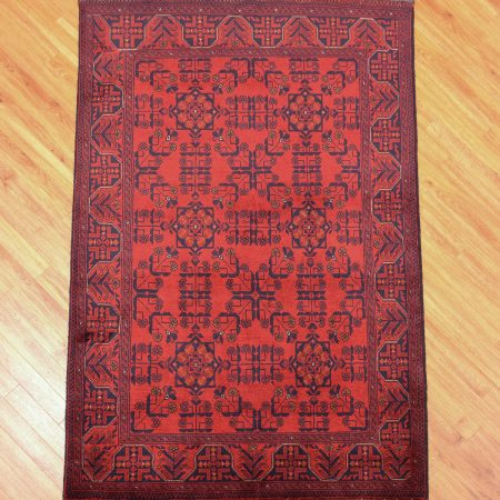 Afghan Khan Mohamadi Rug with traditional all over pattern.