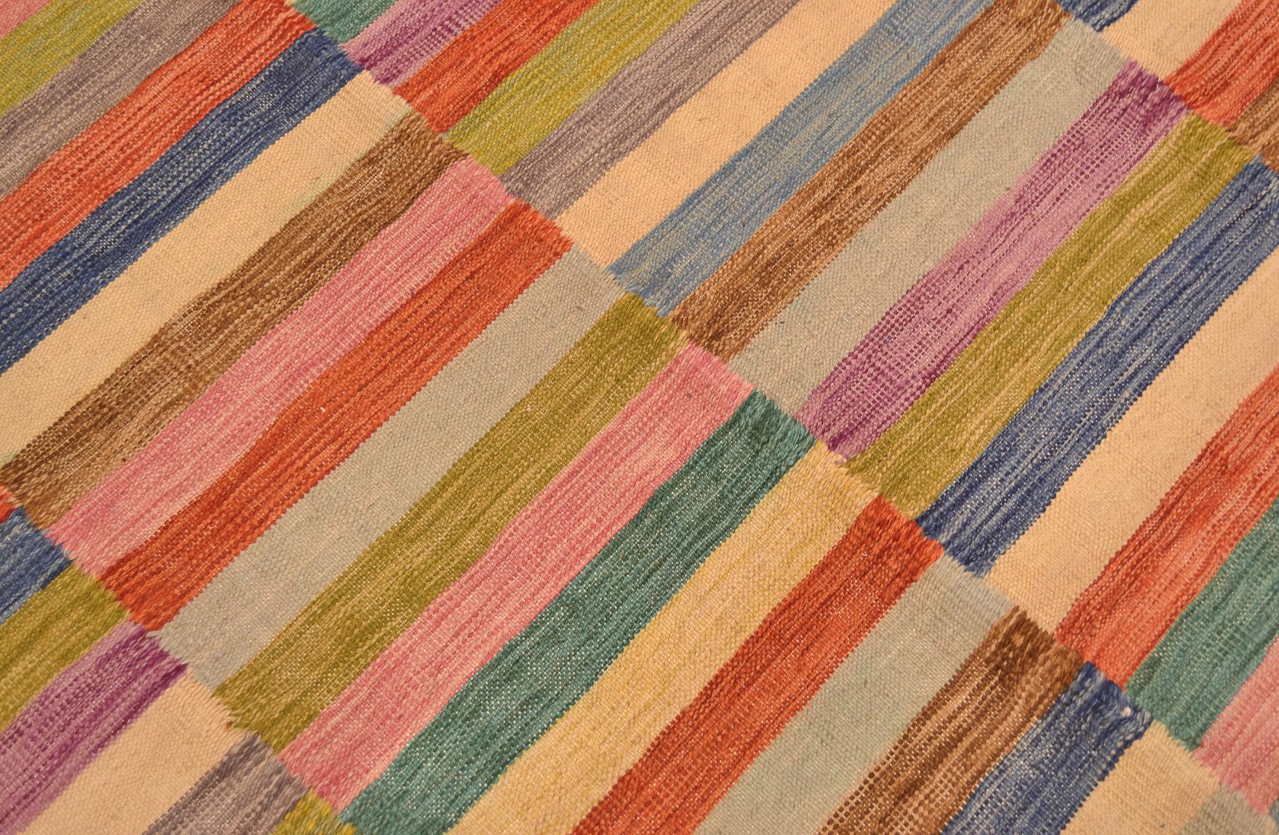 Funky Afghan Modern Kilim Rug The Oriental Rug Merchant