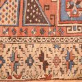 Patch repair to side of Antique Bergama Rug
