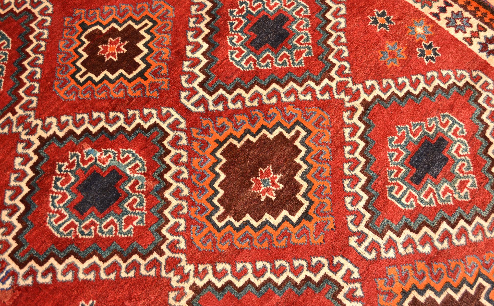 Persian Tribal Old Qashqai Gabbeh Rug The Oriental Rug