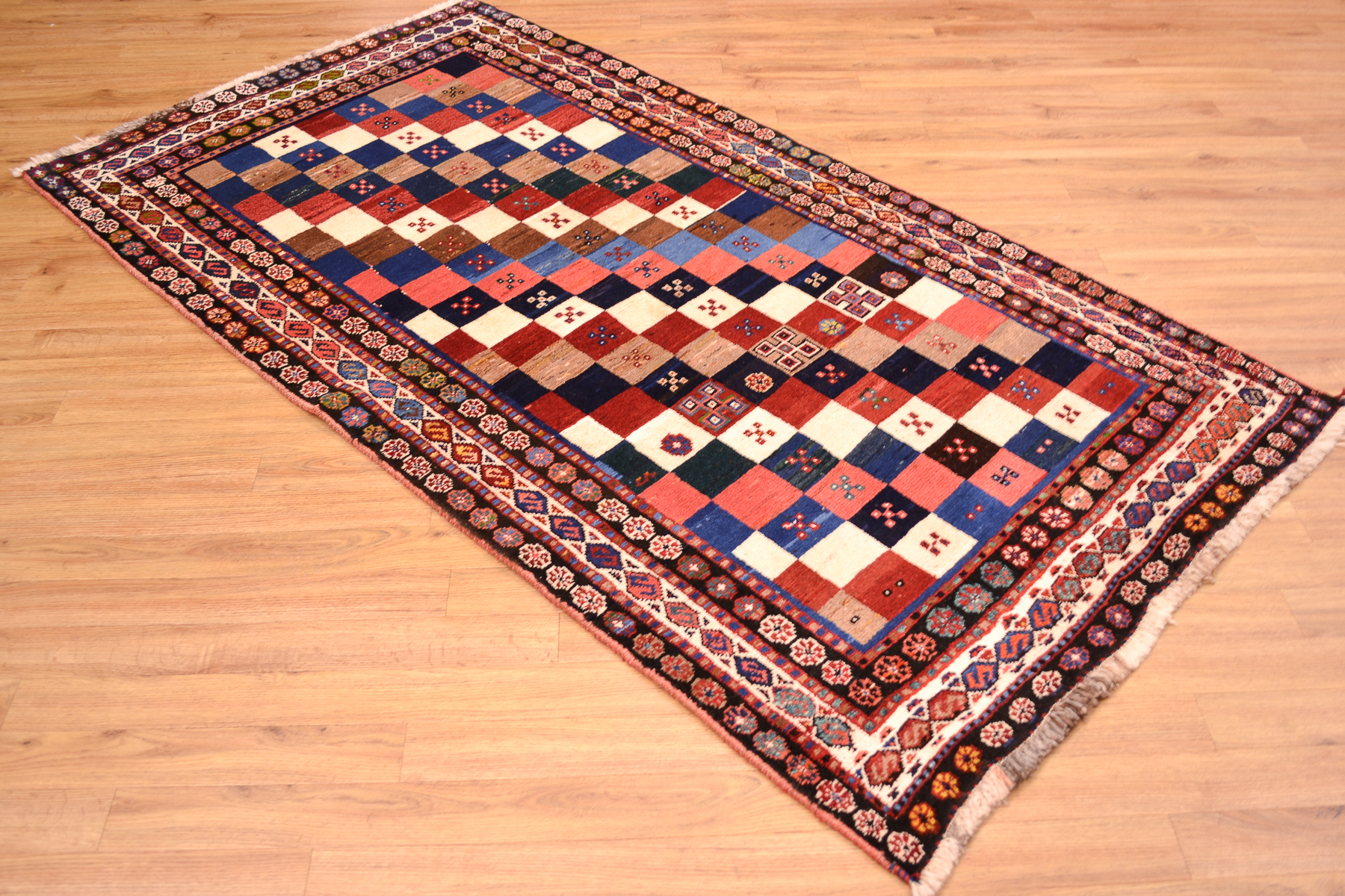 Cool Persian Chequerboard Gabbeh Rug The Oriental Rug