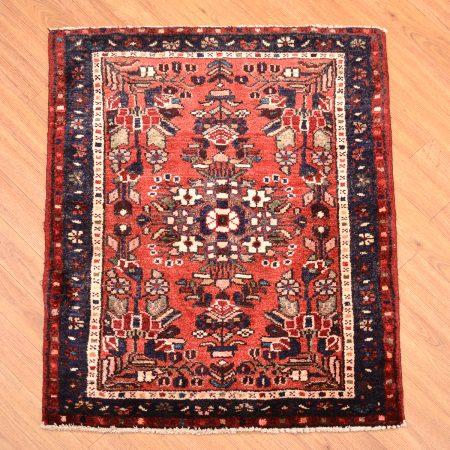 Terracotta colour handmade Persian Hamadan Mat Rug.