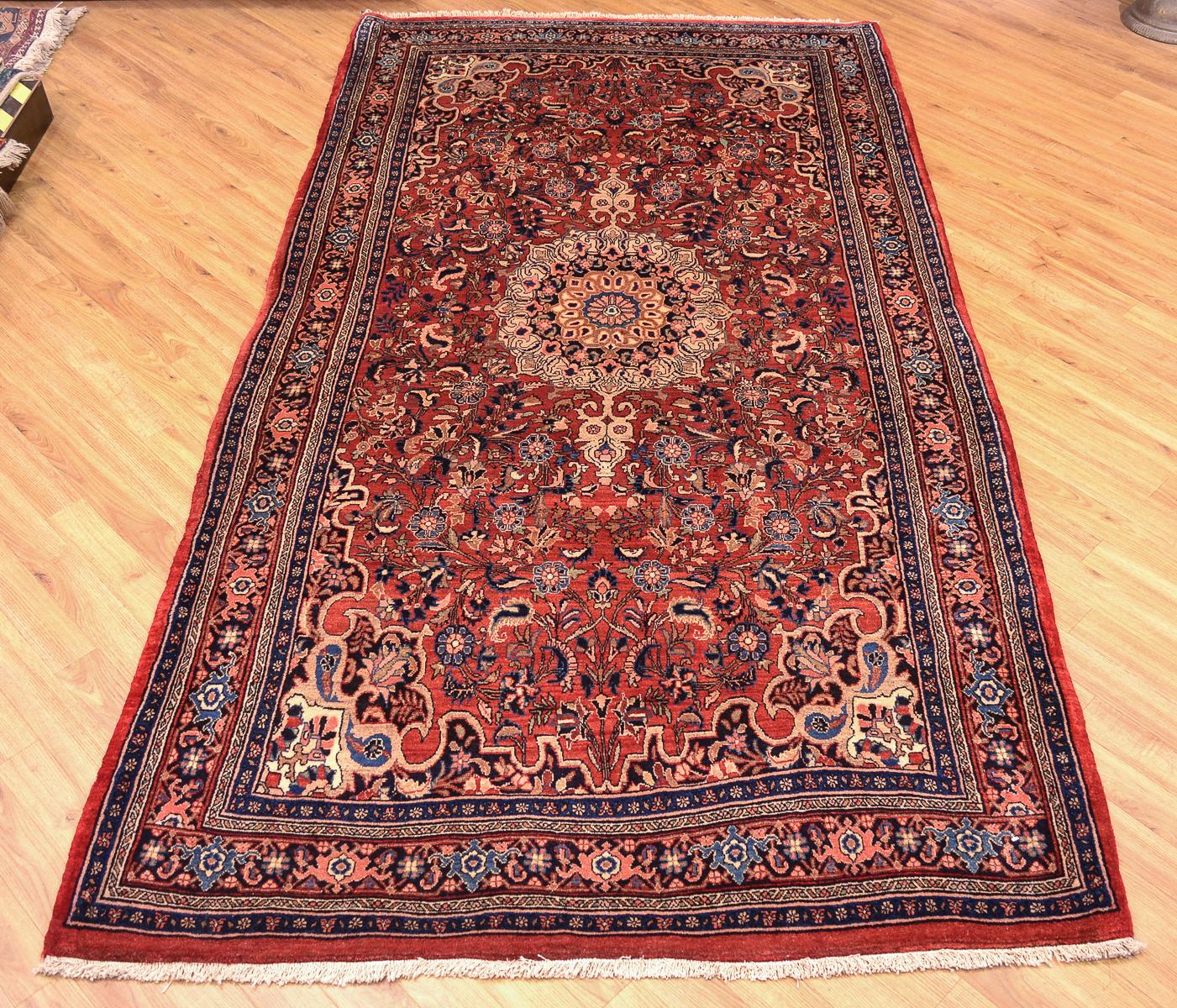 Old Persian Bidjar Carpet 2.77x1.50m