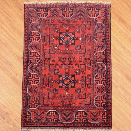 High quality handmade Afghan Khan Mohamadi Rug with classic design.