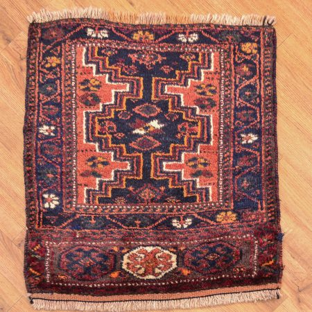 Handmade Persian Afshar Bag-Face with tribal design.