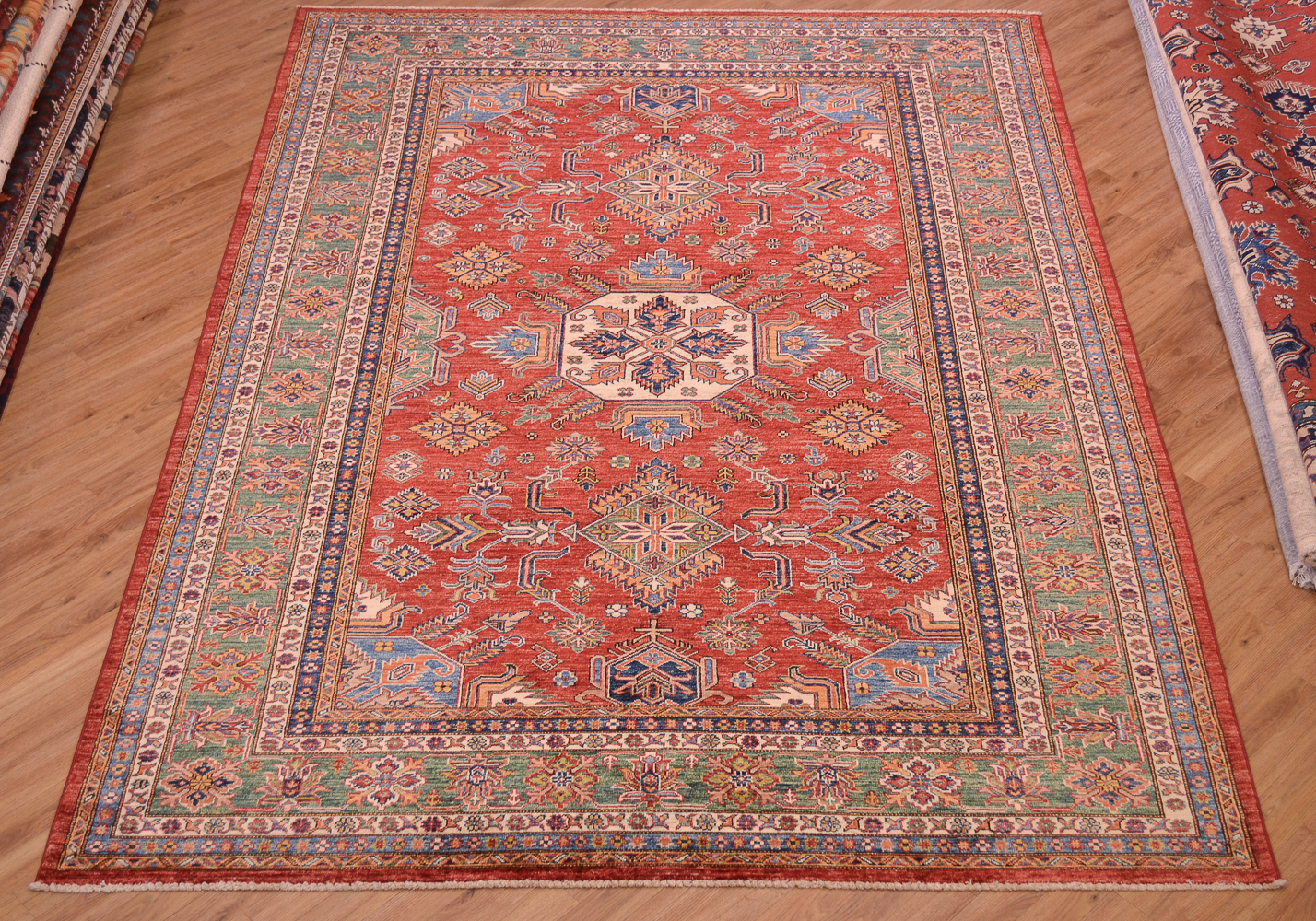 Fine Afghan Kazak Carpet 3 04x2 11m The Oriental Rug