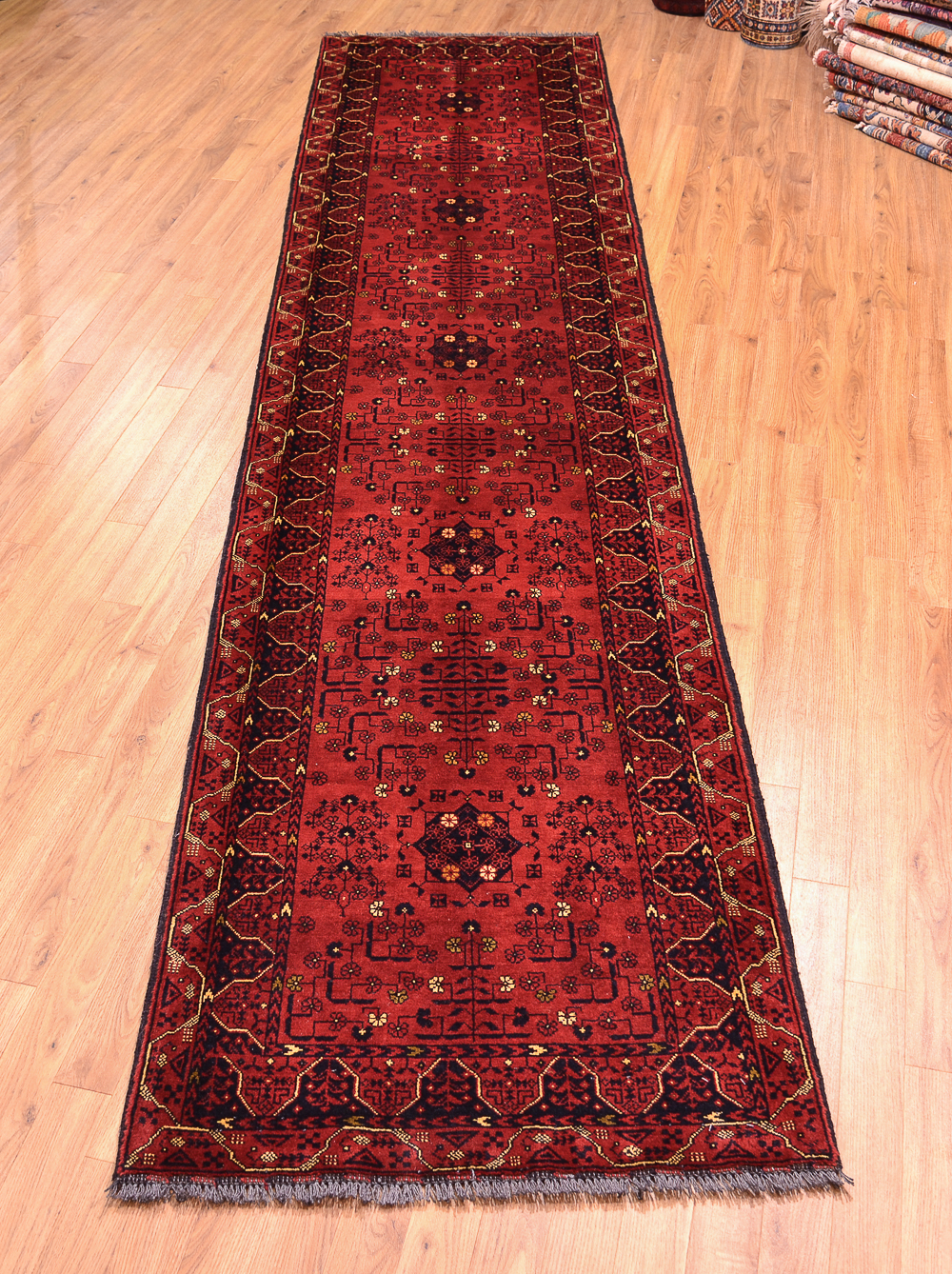 Kunduz Long Runner 3 73x0 84m Afghan Rug The Oriental